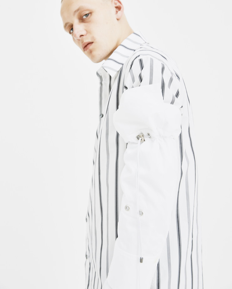 DELADA White Detachable Sleeves DM4ACC4 cotton double layered removable shirt sleeve buttoned drawstring fastening autumn winter AW18 showstudio machine a