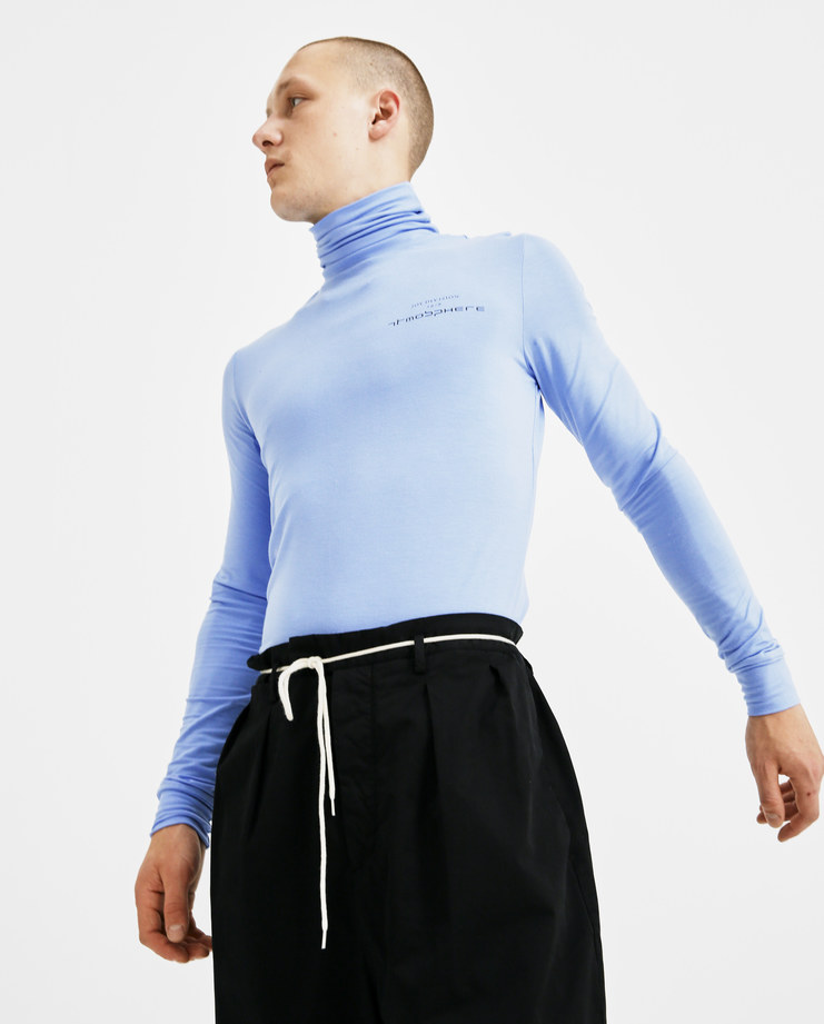 Raf Simons Light Blue Classic Sous Pull 181-150-19001-00042 mens tops turtleneck roll neck SS18 spring summer showstudio machine a