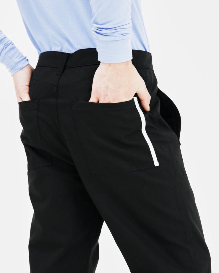 Helmut Lang Black Cropped Canvas Pants I05HM205 mens trousers pants bottoms AW18 autumn winter showstudio machine a