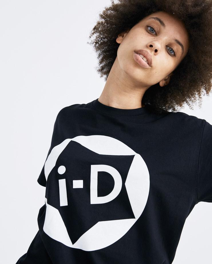 I-D Black Star Logo T-Shirt white printed logo short sleeves top mens womens unisex AW18 autumn winter showstudio machine a
