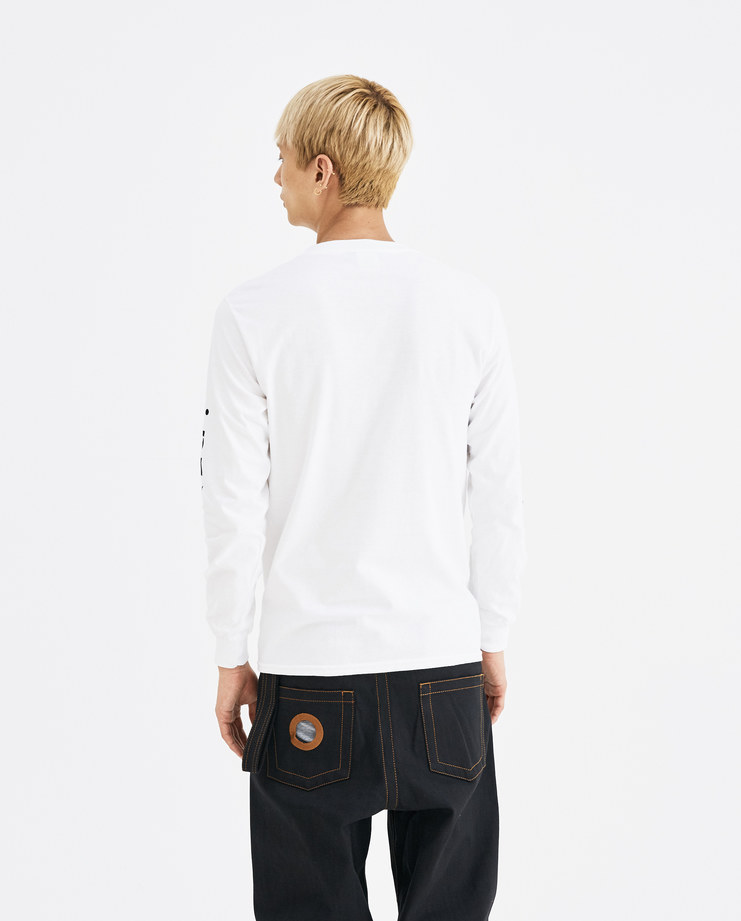 I-D Global Eye Logo Top white long sleeves black print mens womens unisex AW18 autumn winter showstudio machine a