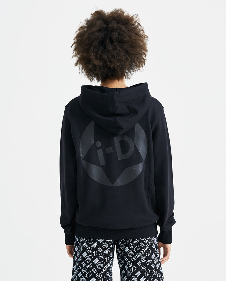I-D Classic Star Hoodie black hooded sweater printed logo kangaroo pockets mens womens unisex AW18 autumn winter showstudio machine a
