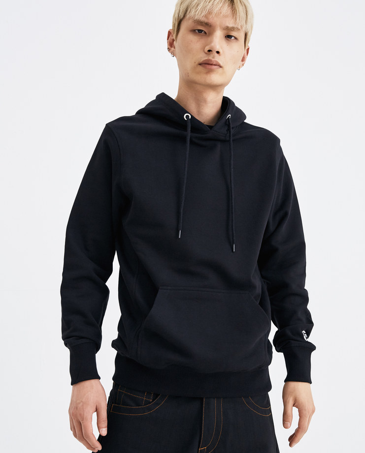 I-D Classic Star Hoodie black hooded sweater printed logo kangaroo pockets mens womens unisex AW18 autumn winter showstudio machine a