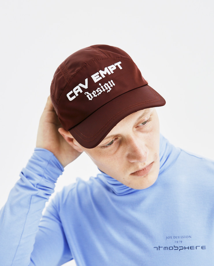 Cav Empt Blue Design Panel Cap CES13G02 mens accessories caps SS18 spring summer showstudio machine a burgundy brown white embroidery patch