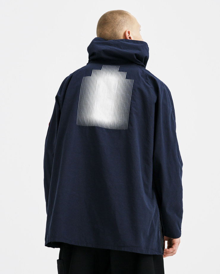 Cav Empt Navy Pullover Smock CES13JK17 mens pullovers tops sweater SS18 spring summer showstudio machine a blue shirt cotton turtleneck funnel