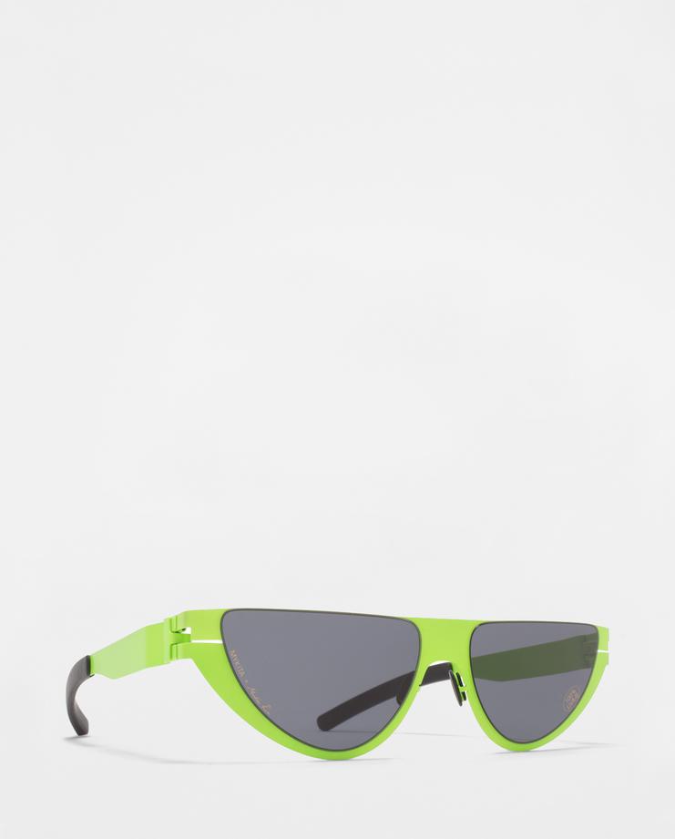 MYKITA X Martine Rose Kitt Sunglasses cat eye shape raver sunglasses glasses aw18 eyewear shades mikyta matine machine-a showstudio lime green