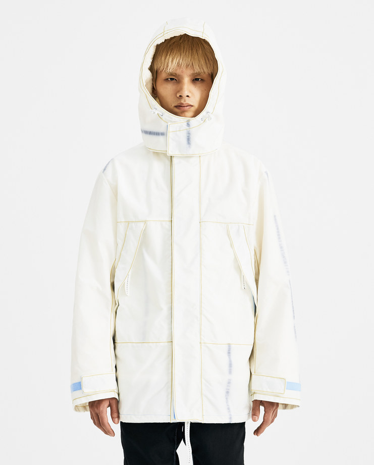 KANGHYUK Off White Fake Fur Hooded Jacket RMA18AWJK02 new arrivals Machine A SHOWstudio AW 18 autumn winter 2018 collection mens jackets coats faux fur lining