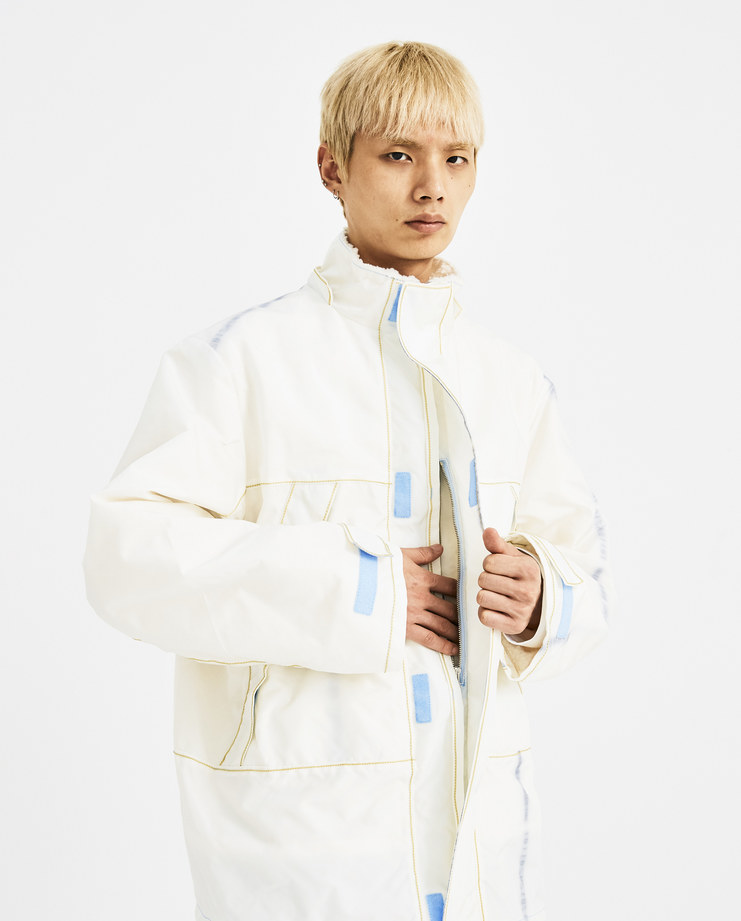 bfc0cccd765b ... KANGHYUK Off White Fake Fur Hooded Jacket RMA18AWJK02 new arrivals  Machine A SHOWstudio AW 18 autumn ...