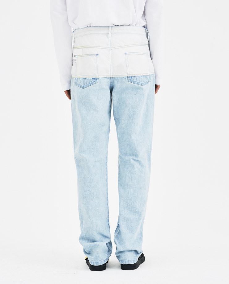 KANGHYUK Airbag Jeans PP18AWJ04 new arrivals Machine A SHOWstudio AW 18 autumn winter 2018 collection mens jeans contrast light blue white denim