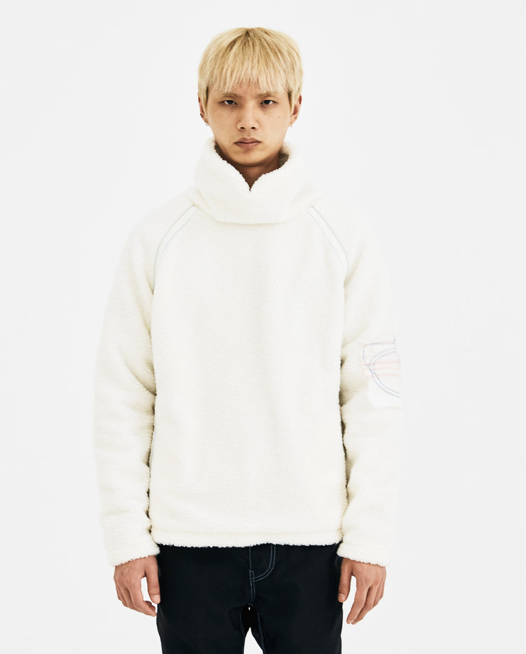 0afba87d061a ... KANGHYUK Off White Fake Fur Jumper FF18AWJ01 new arrivals Machine A  SHOWstudio A W 18 ...