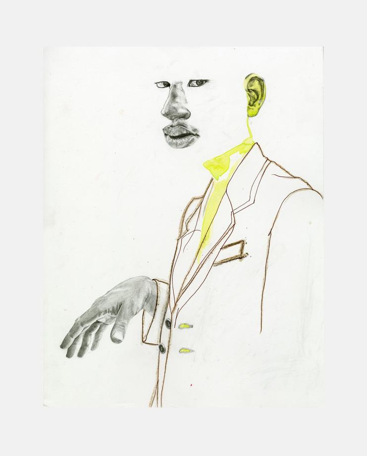 Prada S/S 19, Seniz Jones, showstudio, fashion illustration, menswear