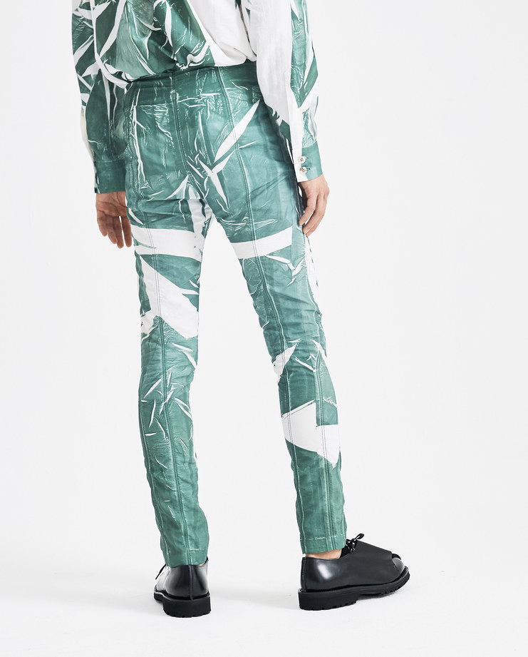 Camilla Damkjaer White and Green Slim Fit Trousers 1.12 new arrivals AW 18 A/W 18 autumn winter 18 collection Machine A SHOWstudio