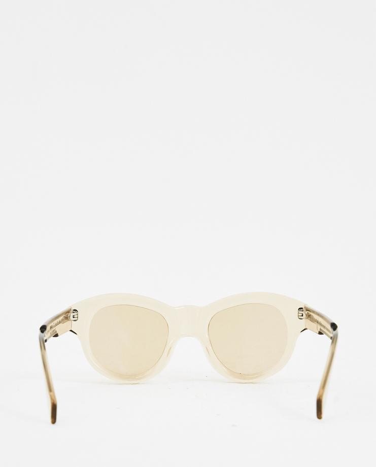 KUBORAUM 'L2' Sand Round Sunglasses new arrivals round sunglasses Machine A Machine-A SHOWstudio mask kuboram koboraum bold