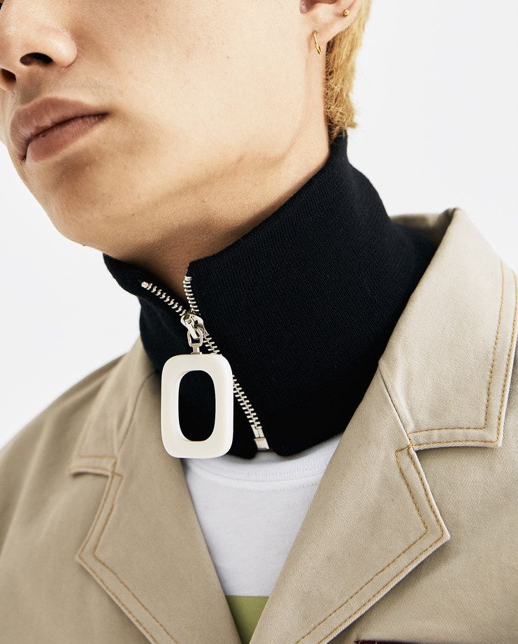 JW Anderson Black Zipped Neckband AC00218F AW 18 A/W 18 collection autumn winter Machine A SHOWstudio accessories neck zip detail