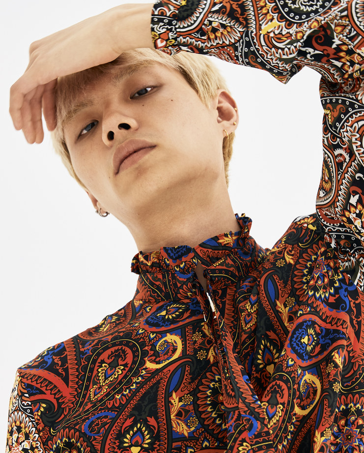 JW Anderson Scarlet Paisley Zip Through Shirt SH01318F new arrivals AW 18 A/W 18 autumn winter collection Machine A SHOWstudio mens shirts tops