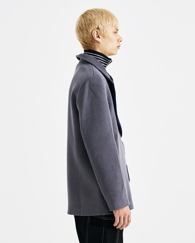 Xander Zhou Navy and Grey Yin Yang Jacket AW18J01-1 AW 18 A/W 18 autumn winter collection Machine A SHOWstudio jackets mens symbols ying yang