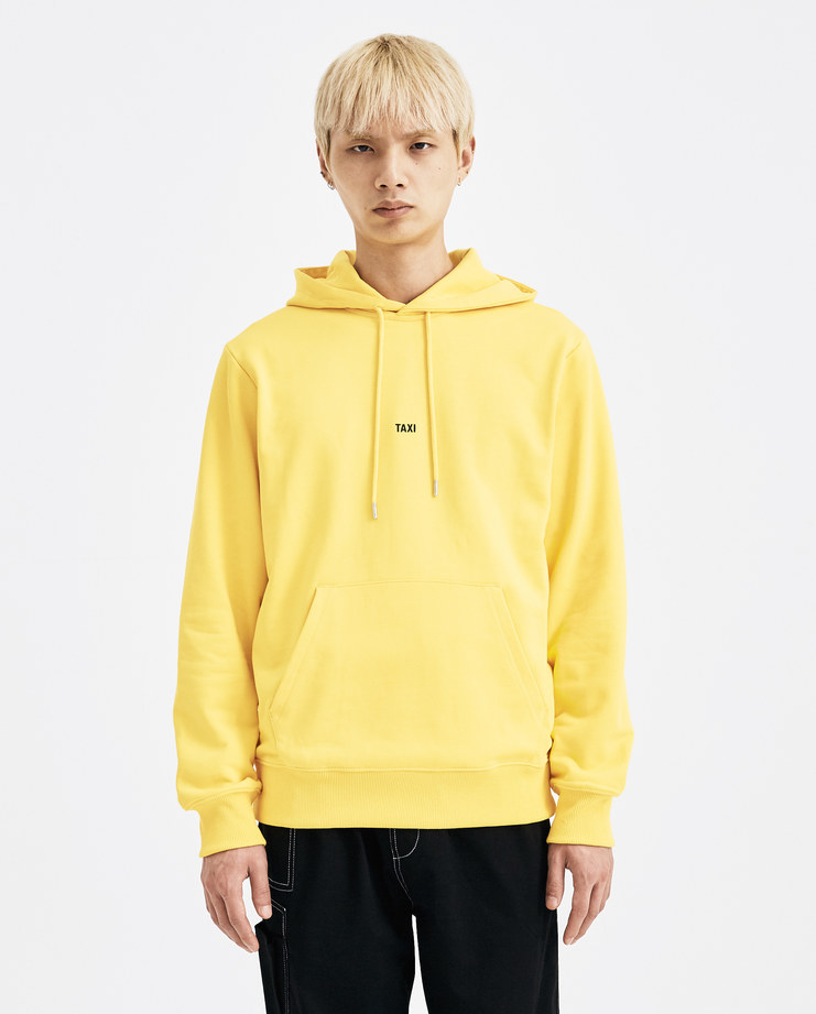 Helmut Lang Yellow Taxi Hoodie H09TW524 jumper new arrivals Machine A SHOWstudio AW 18 A/W18 autumn winter collection mens hoodies sweater