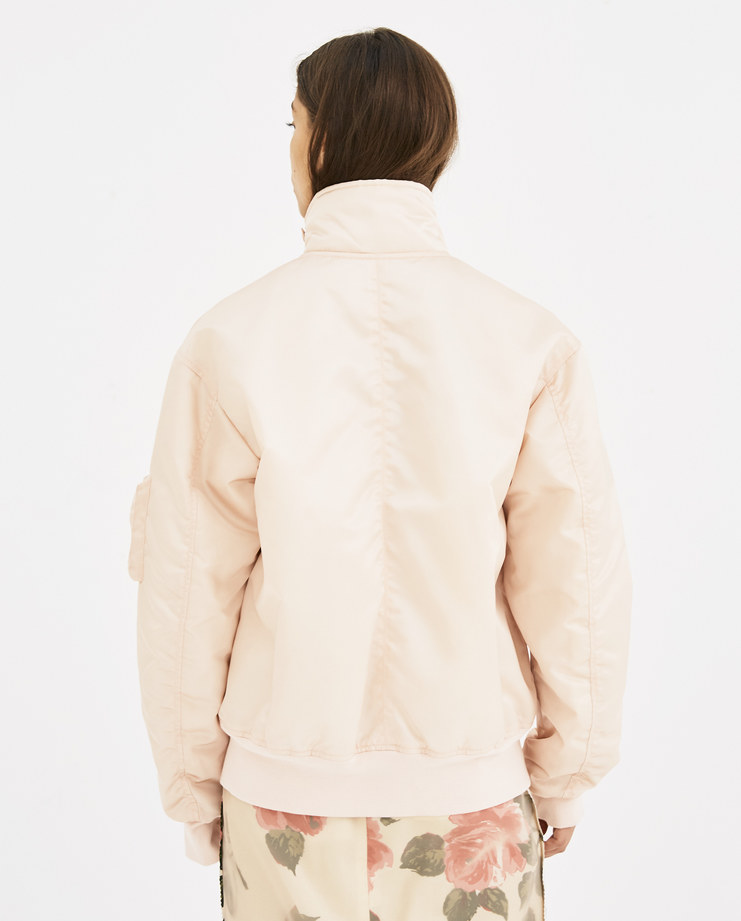 Helmut Lang Pale Pink Panel Neck Bomber I05HM404 new arrivals womens A/W 18 AW 18 autumn winter collection Machine A machine-a SHOWstudio jackets
