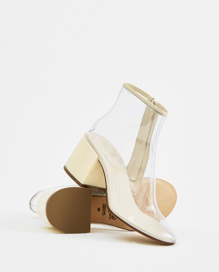 MM6 Transparent Ankle Boots S40WU0142 womens fashion shoes ankle boot SS18 spring summer showstudio machine a machine-a