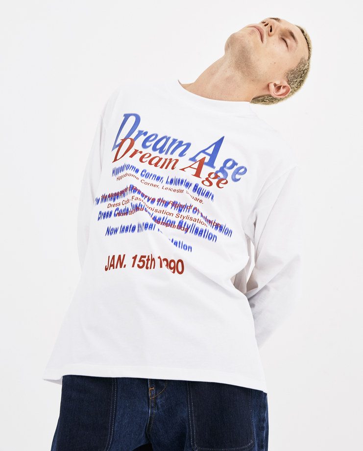 Martine Rose White Long Sleeve Pull T-Shirt AW18-622 AW 18 A/W 18 autumn winter collection Machine-A Machine A SHOWstudio mens tops tshirt tee