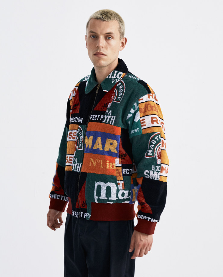 Martine Rose Beermat Bomber Jacket MRAW18-726 new arrivals mix colour Machine A machine-a SHOWstudio A/W 18 AW18 collection mens jackets bomber coat patches streetwear