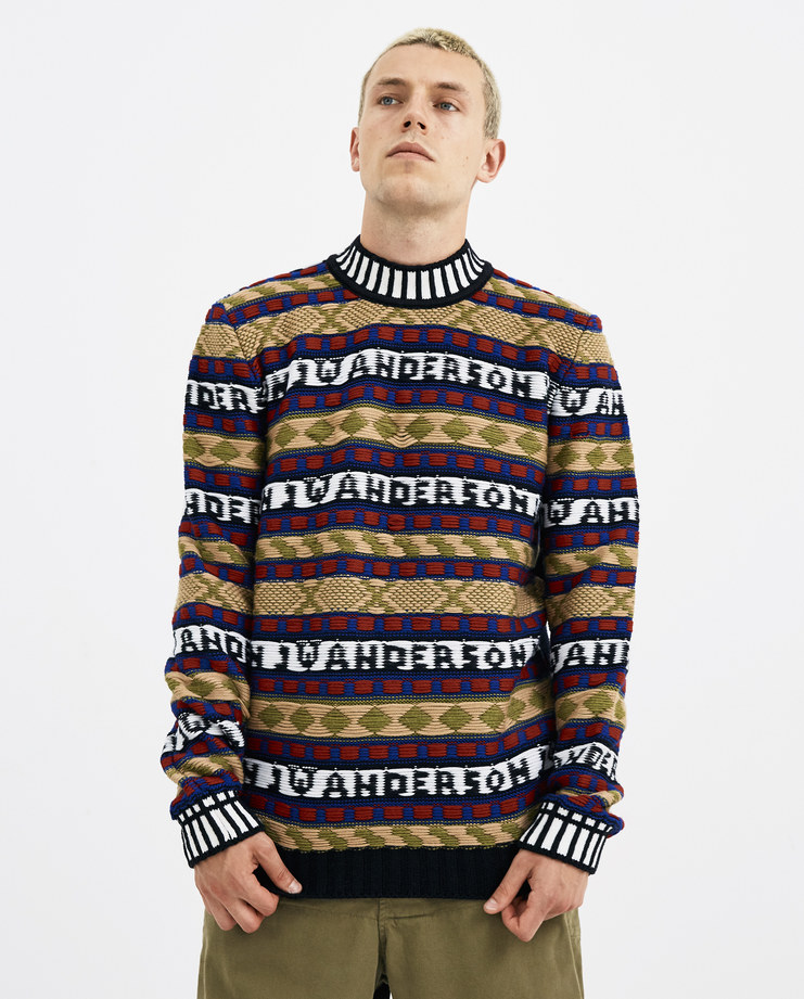 JW Anderson Fairisle Logo Intarsia Jumper KW01718F new arrivals AW 18 autumn winter collection Machine A machine-a SHOWstudio knitted jumpers mens