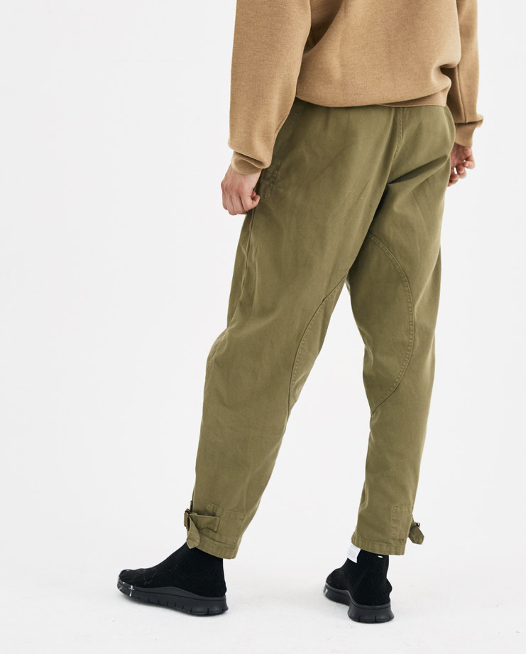 JW Anderson Khaki Garment Dyed Army Trousers TR00118F new arrivals Machine A machine-a SHOWstudio green pants AW18 collection autumn winter military pants
