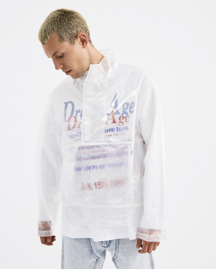 Helmut Lang Clear Pocket Popover Jacket  I05HM502 new arrivals AW 18 collection Machine A machine-a autumn winter collection mens jacket transparent coat pvc jacket