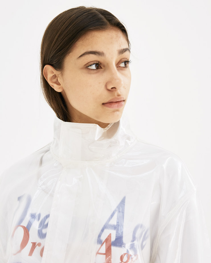 Helmut Lang Clear Pocket Popover Jacket  I05HM502 new arrivals AW 18 collection Machine A machine-a autumn winter collection womens jacket transparent coat pvc jacket