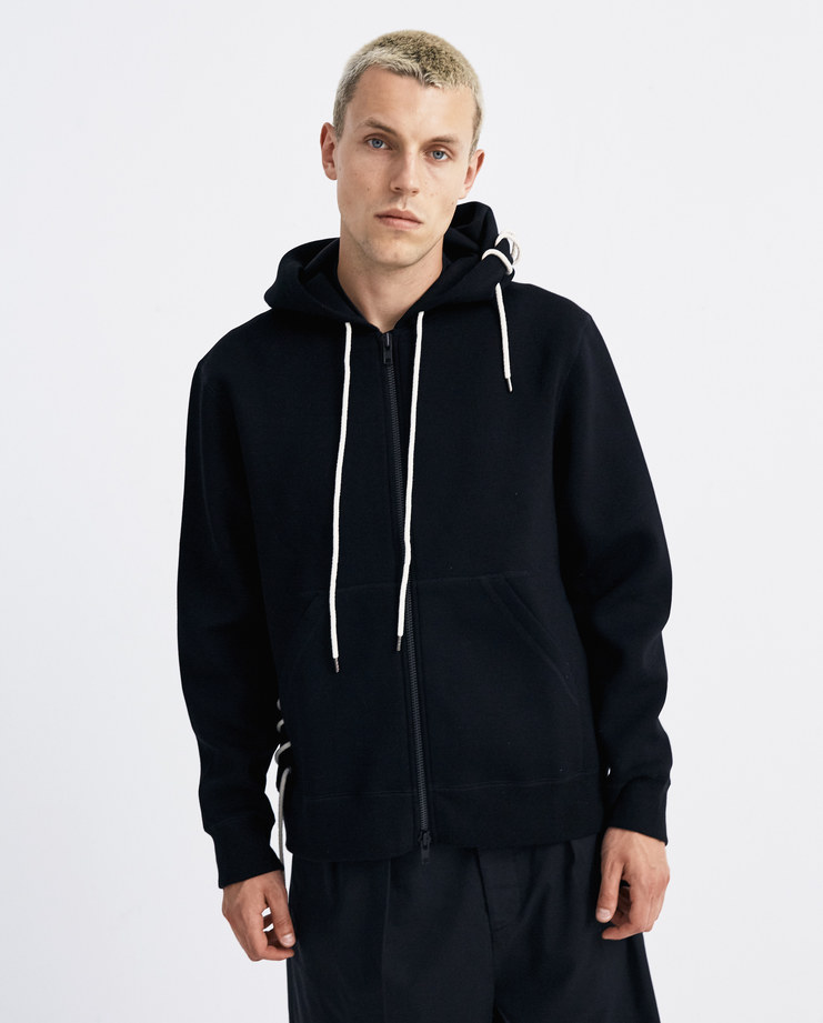 Craig Green Black Laced Zip Up Hoodie CGAW18CJEHO01 AW 18 collection Machine-A machine a SHOWstudio new arrivals zipped hoodie jumper menswear