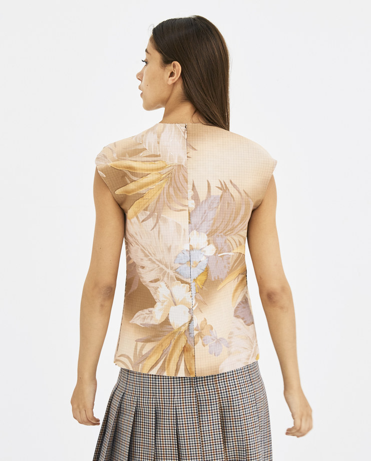 Maison Margiela floral structured top cut-out cut out check  Spring Summer 18 SS18 S/S/ 18 MMM Margela Margella Mason Masion Machine-A S29NC0408