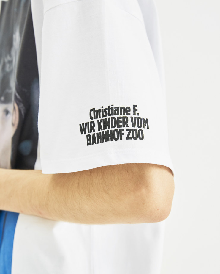 Raf Simons x Christiane F White Christiane F and Detlef T-Shirt 182-124C-19000-00099 new collection Christiane F Berlin Zoo drugs Machine-A Machine A SHOWstudio menswear tops