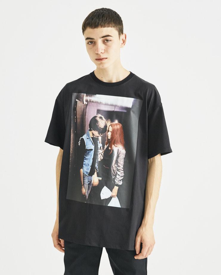 Raf Simons x Christiane F Black Couple Print T-Shirt new collection Christiane F Berlin Zoo drugs Machine-A Machine A SHOWstudio menswear tops