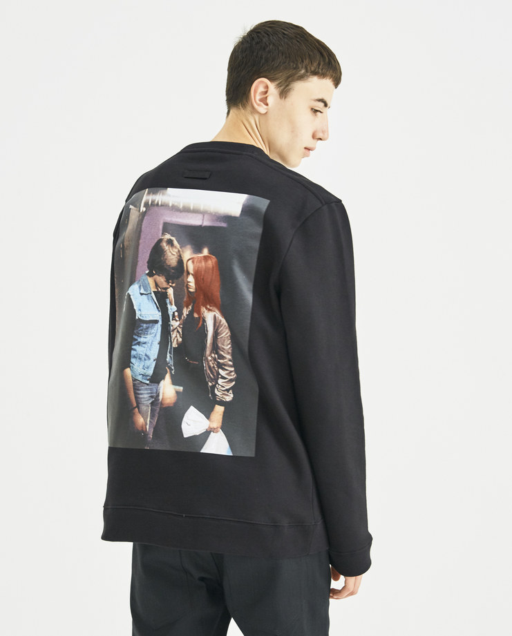 Raf Simons x Christiane F Black Crew Neck Print Sweat new collection Christiane F Berlin Zoo drugs Machine-A Machine A SHOWstudio menswear jumpers