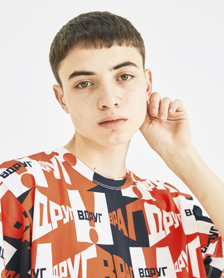 Gosha Rubchinskiy Red Graphic Printed T-Shirt G013T009 new collection AW 18 autumn winter Machine-A Machine A SHOWstudio