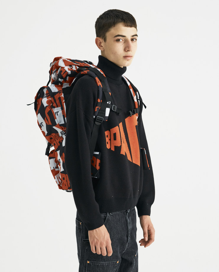 Gosha Rubchinskiy Red Graphic Backpack G013K014 new collection AW 18 autumn winter Machine-A SHOWstudio streetwear rucksack accessories