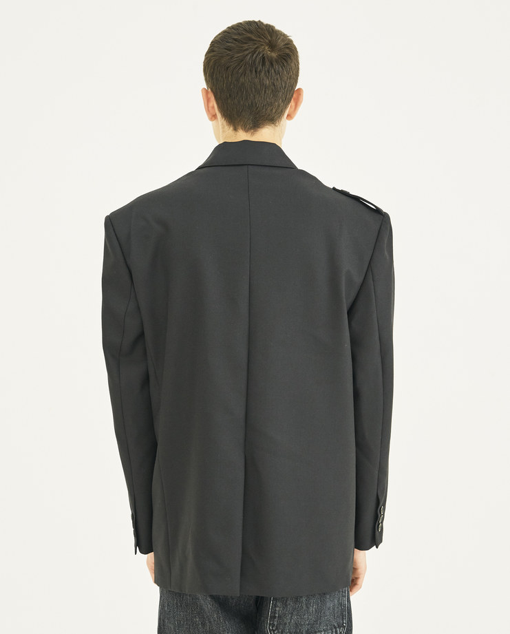 Gosha Rubchinskiy black hybrid jacket autumn winter final A/W 18 collection Machine A MACHINE-A SHOWstudio collaboration russia G013J002