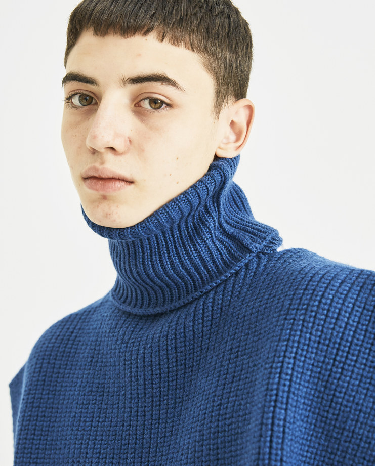Raf Simons Turtleneck with Patches knitted long sleeve jacquard aw18 aw 18 autumn winter 2018 machine a SHOWstudio simon menswear