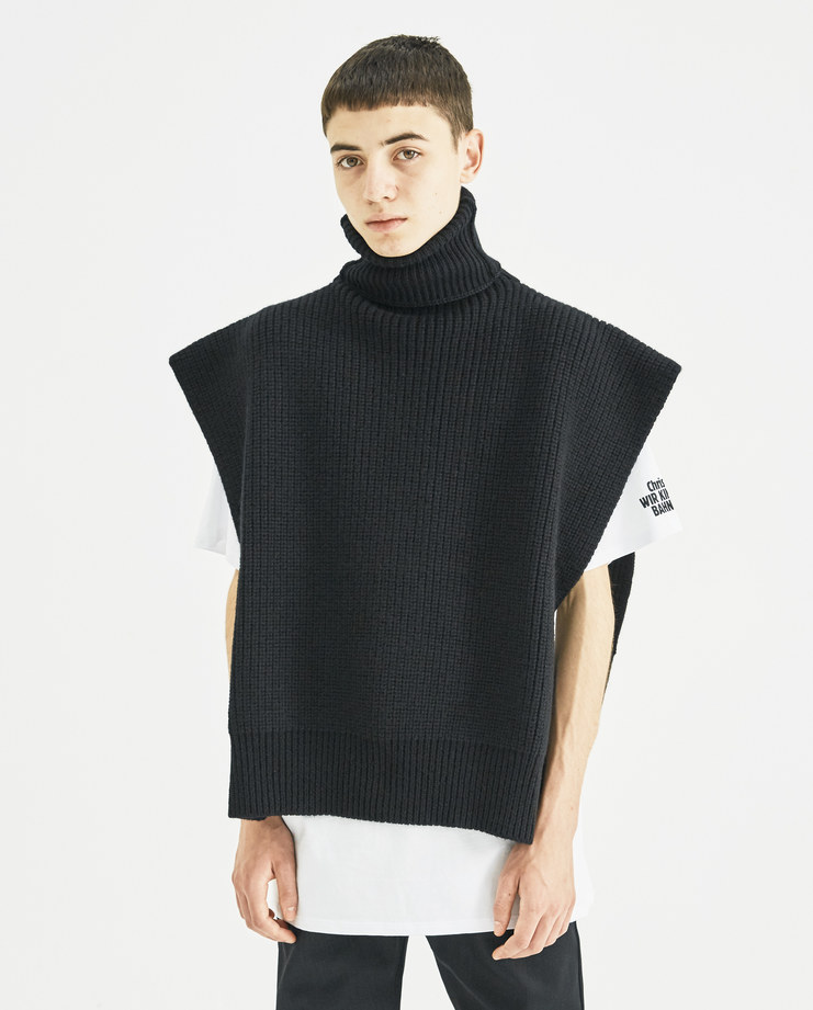 Raf Simons Turtleneck with Patches knitted long sleeve jacquard aw18 aw 18 autumn winter 2018 machine a simon black grey