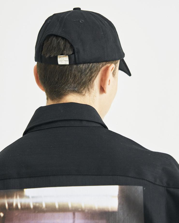 Raf Simons Black Embroidered Baseball Cap logo simon machine 2018 aw autumn winter machine a hat Machine A SHOWstudio caps menswear