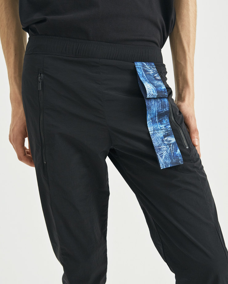 COTTWEILER Black Harness Trackpants CWTP 19 new collection AW 18 Machine-A MACHINE A SHOWstudio mens trousers tracksuit pants