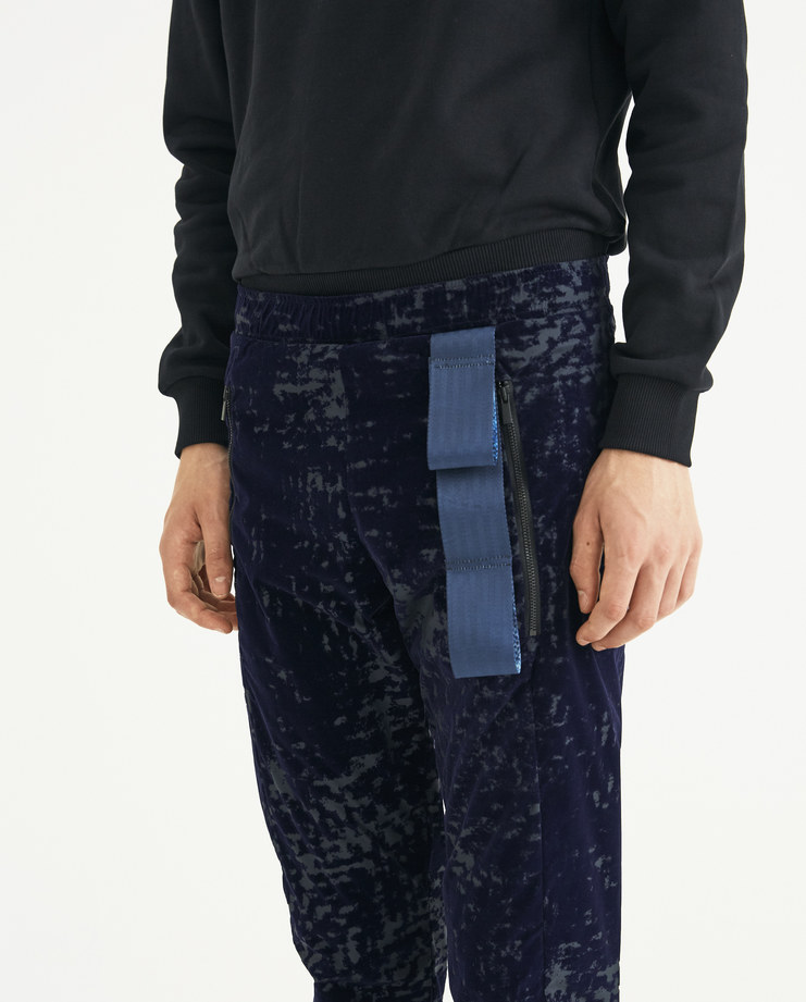 COTTWEILER Navy Harness Trackpants CWTP 19 new collection AW 18 Machine-A MACHINE A SHOWstudio mens trousers tracksuit top