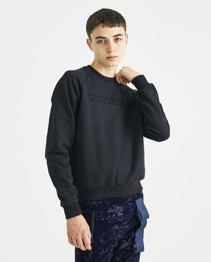COTTWEILER Black Signature 3.0 Sweater CWSW 50 new collection AW 18 Machine-A MACHINE A SHOWstudio mens pullover sweaters logo print