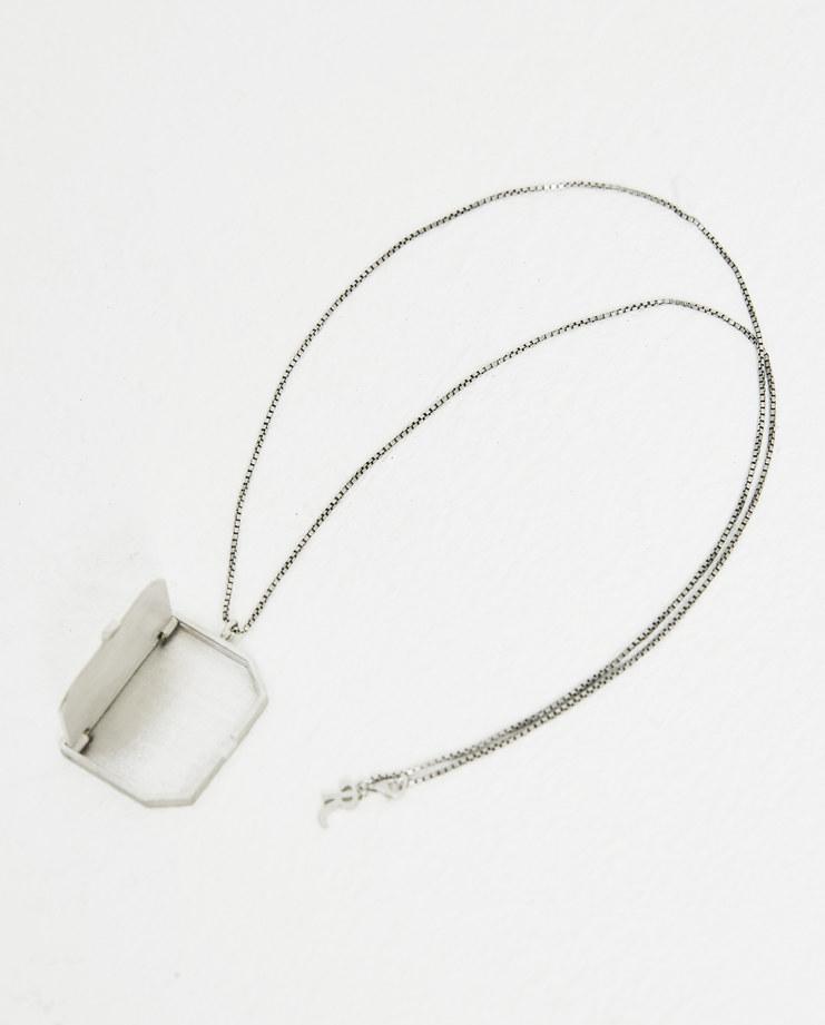 Raf Simons Silver Mirror Necklace 182-945-46000-00082 AW 18 raf simon Machine-A Machine A SHOWstudio jewellery silver chain