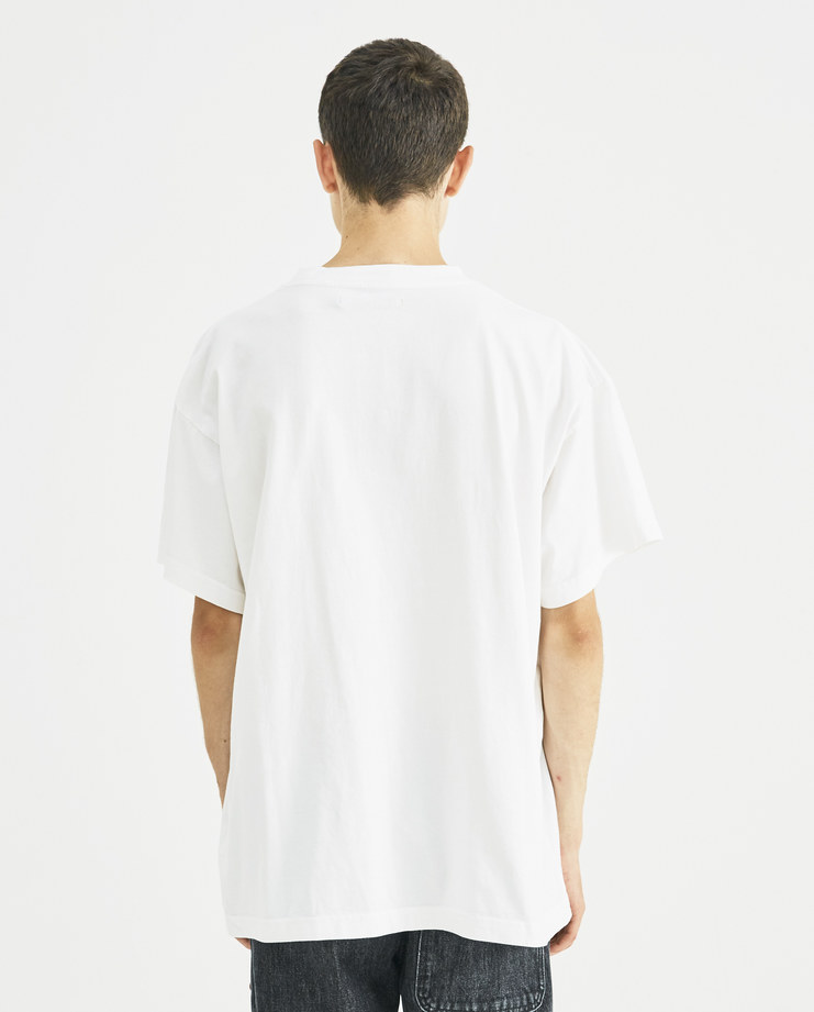 Vyner Articles White and Red Printed Jersey T-Shirt 0A03 vyner studio Machine A Machine-A SHOWstudio menswear print tee logo tshirt