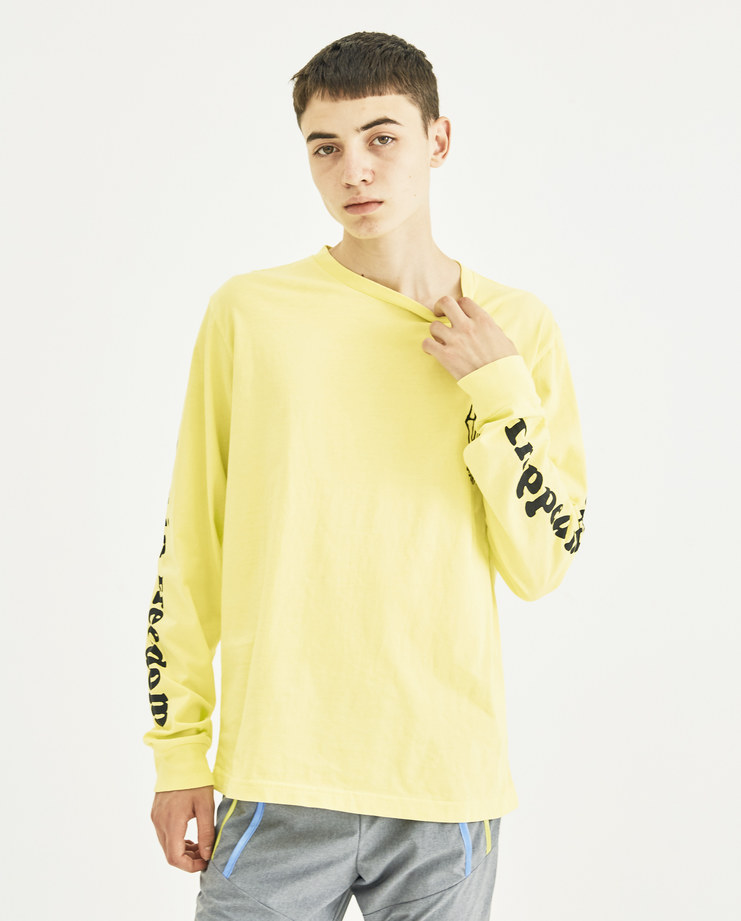 Vyner Articles Acid Yellow Long Sleeve Jersey Top 0A05 vyner studio Machine A Machine-A SHOWstudio menswear print tee logo tops