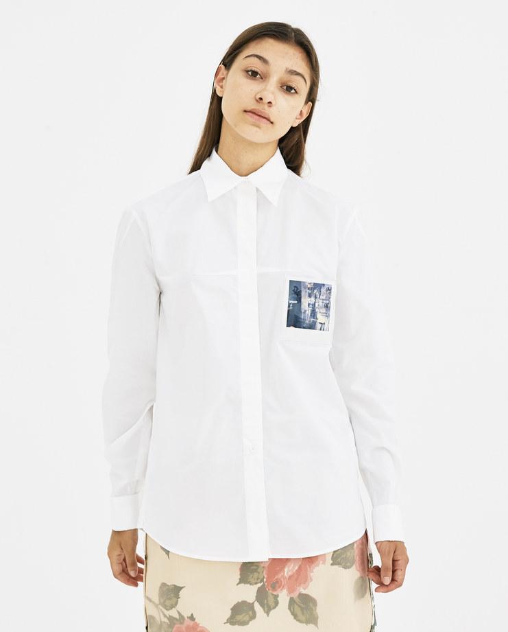 Maison Margiela White Polaroid Shirt S62DL0004 autumn winter collection 18 AW 18 Machine-A SHOWstudio womens shirts polaroids photos tops womenswear