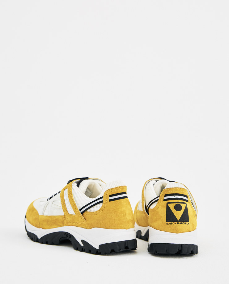 Maison Margiela Yellow Off White Security Shoes Machine-A Machine A SHOWstudio Suede Leather Sneakers Workwear Boots