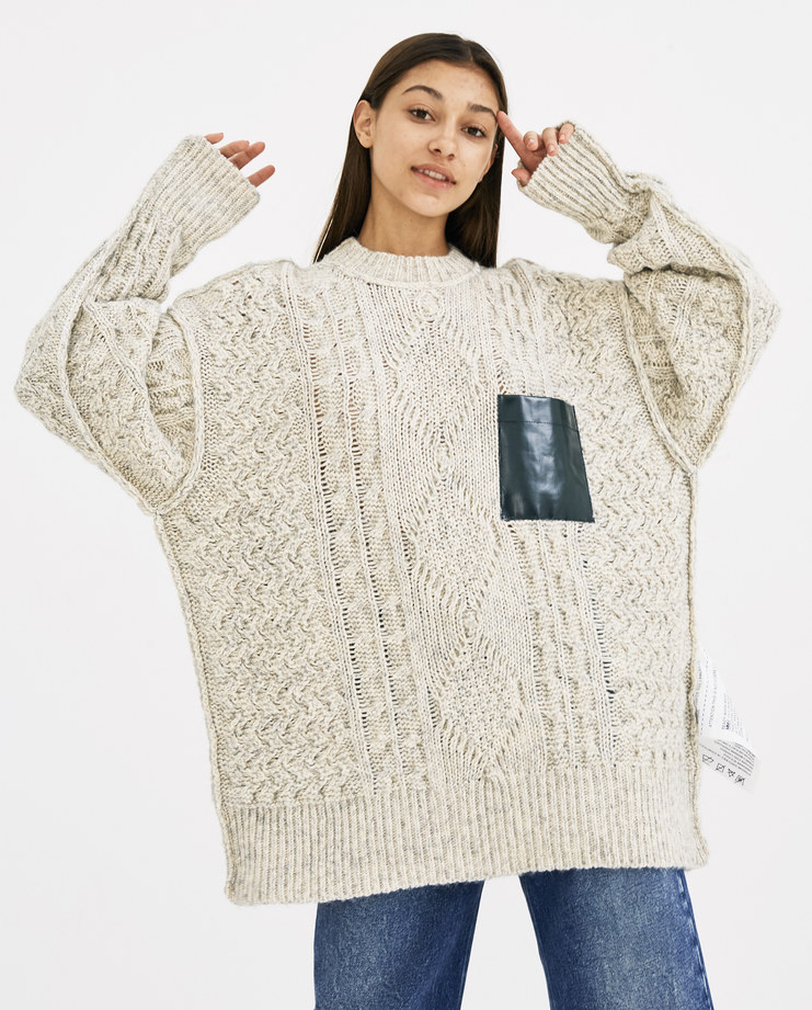 MM6 Oversized Knitted Sweater S52GP0031 autumn winter 18 maison margiela machine-A Machine A SHOWstudio womenswear jumpers cotton blend cable knit knitted