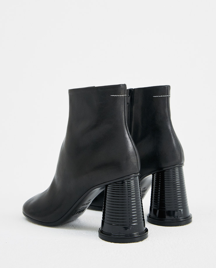MM6 Black Cup Ankle Boots S59WU0075 autumn winter collection maison margiela shoes heels Machine-A Machine A SHOWstudio womens
